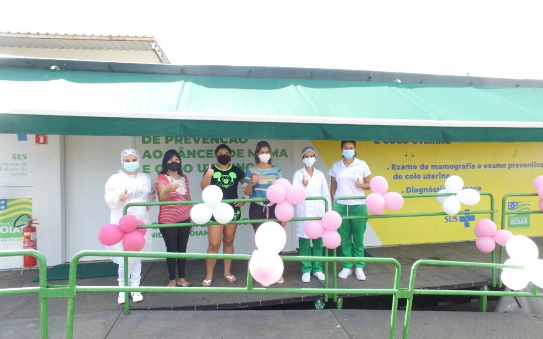 Mulheres de Itaguaru recebem carreta da prevenção do Estado